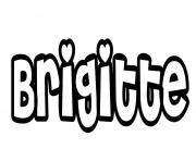 Brigitte dessin à colorier