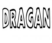 Coloriage Dragan