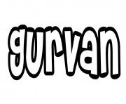 Gurvan dessin à colorier