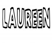 Coloriage Laureen