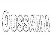 Oussama dessin à colorier