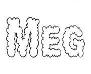 Meg dessin à colorier