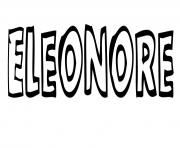 Eleonore dessin à colorier