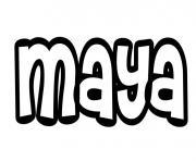 Maya dessin à colorier