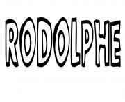 Rodolphe dessin à colorier