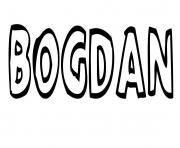 Bogdan dessin à colorier