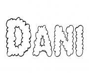 Dani dessin à colorier