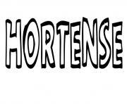 Hortense dessin à colorier
