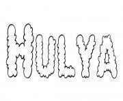 Hulya dessin à colorier
