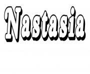 Nastasia dessin à colorier