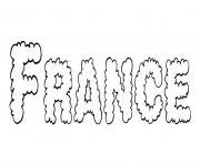 France dessin à colorier