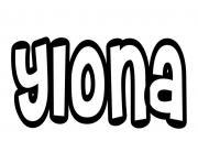 Ylona dessin à colorier
