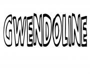 Gwendoline dessin à colorier