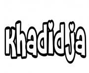 Khadidja dessin à colorier
