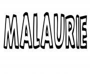 Malaurie dessin à colorier