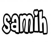 Samih dessin à colorier