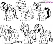 Coloriage my little poney 6
