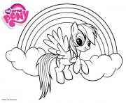 Coloriage petit poney dessin