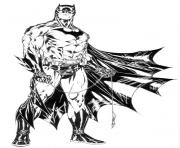 batman dark knight dessin à colorier