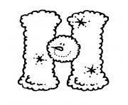 lettre h dessin à colorier