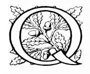 lettre q dessin à colorier