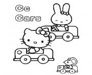 Coloriage alphabet hello kitty