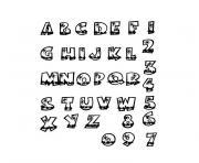 alphabet maternelle dessin à colorier