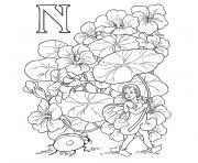 alphabet elfe dessin à colorier