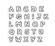 alphabet majuscule dessin à colorier
