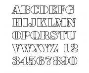 alphabet script dessin à colorier