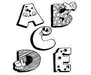alphabet dessin à colorier