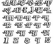 lettres de l alphabet dessin à colorier