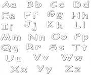 noel alphabet dessin à colorier