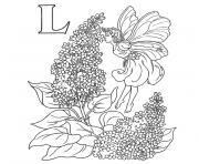 alphabet automne dessin à colorier