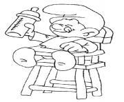 bebe biberon dessin à colorier