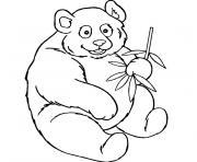 bebe panda dessin à colorier