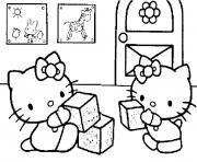 Coloriage hello kitty bebe
