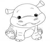 bebe hippopotame dessin à colorier