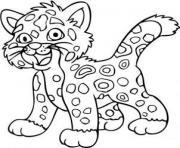 bebe jaguar facile dessin à colorier