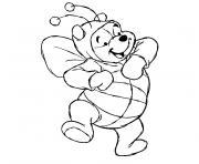 winnie l ourson bebe dessin à colorier