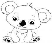 de bebe koala dessin à colorier