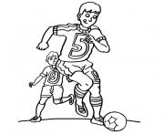 Coloriage foot bordeaux