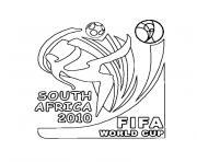 coupe du monde 2010 dessin à colorier
