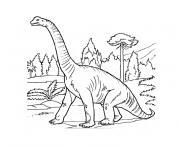 volcan dinosaure dessin à colorier