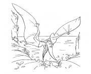dinosaure volant dessin à colorier