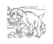 oeuf de dinosaure dessin à colorier