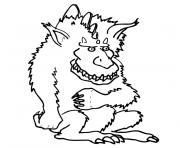 monstre poilu dessin à colorier