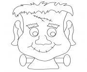monstre tete frankeinstein dessin à colorier