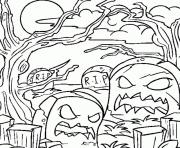 Coloriage halloween monstre