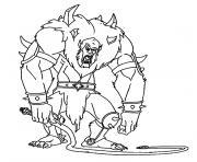 monstre effrayant dessin à colorier